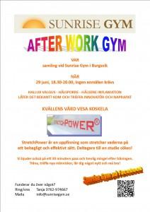Inbjudan till Afterwork Gym